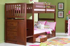bunk beds with stairs twin over full twin over full size bunk bed
