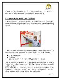 Mcdonalds Job Description Resume by Marketing Strategies