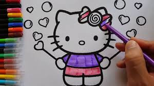 kitty coloring kitty love baloons coloring book