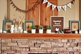 decorations minimalist thanksgiving fireplace mantel decoration