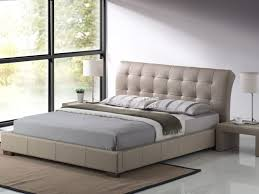 Stylish Bed Frames Boston Bed Frame In Faux Leather Fabric 4ft6