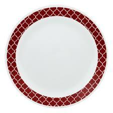Corelle 12 Piece Dinnerware Set Livingware Crimson Trellis 74 Pc Dinnerware Set Corelle