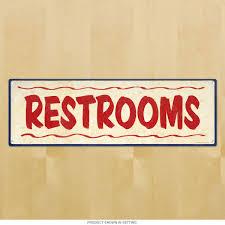 Vintage Powder Room Sign Restrooms Restaurant Style Bathroom Sign Rest Room Decor