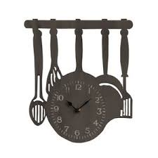 pendule originale pour cuisine horloge de cuisine originale stickoo