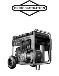 briggs u0026 stratton portable generator 30424 user guide