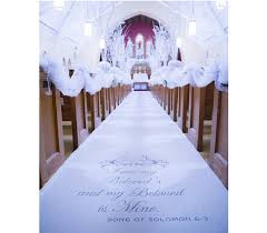 personalized wedding aisle runner of solomon with scroll aisle runner