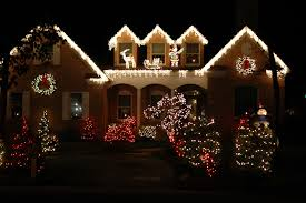 Christmas Decorated Houses Decor American Christmas Decorations Remodel Interior Planning