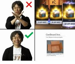 Cardboard Box Meme - 5995 loot boxes 24 loot boxes 50 loot boxes cardboard box from