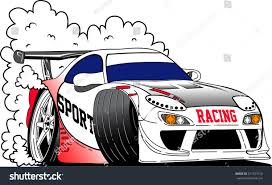 vector racing car transportation art city stock vector 517327510