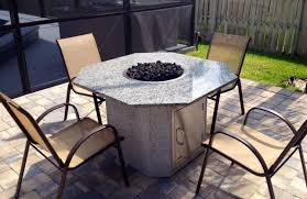 Outdoor Firepit Tables Pit Table Propane Dining With In Middle Outdoor Gas