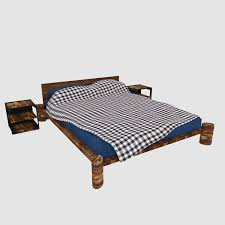 3d model country style bed 1147415 turbosquid