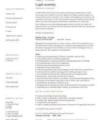 secretary resume examples resume template legal secretary job