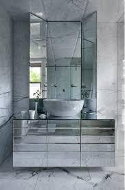 Jorge Varela Marble Floor Walls And Ceiling Beveled Mirror - Floor to ceiling bathroom vanity