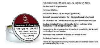 tattoo care essential oils amazon com tattoo aftercare balm 100 natural organic shines and