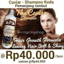 Sho Kuda Pemanjang Rambut the caviar shoo sho kuda kesehatan kecantikan di carousell