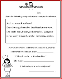 2nd grade reading comprehension passages pdf kristal project