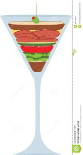 liquid lunch martini glass stock illustration image 43773558