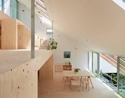 Slope House Tomohiro Hata U0027s Hillside House Interior Integrates Terraced Platforms