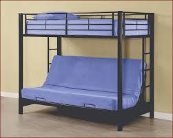 Edison Twin Over Futon Metal Bunk Bed WEBTOFBLWT - Walker edison twin over full bunk bed