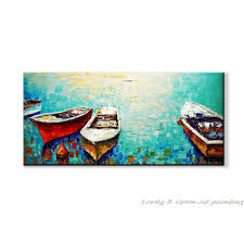 hand painting oil painting boating canvas entranceway decorative