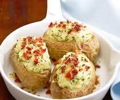 pommes de terre en robe de chambre au four recette facile pommes de terre au four ciboulette et jambon cru