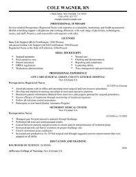 resume templates nursing best perioperative resume exle livecareer