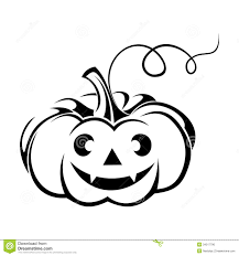 pumpkin face clipart black and white collection
