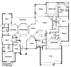 5 bedroom home plans 5 bedroom house floor plan one story 5 bedroom house floor