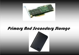 Storage Devices by Primary And Secondary Storage Youtube