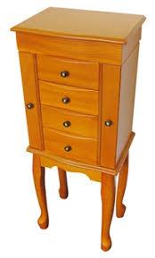 jewelry armoire oak finish chasingtreasure com jewelry boxes blog floor standing jewelry