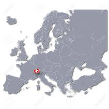 Switzerland Map Europe by Map Of Europe With Switzerland Stock Photo Picture And Royalty