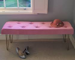how to diy this pink velvet u0026 gold legged bedroom bench from
