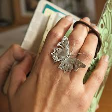 rings butterfly images Large butterfly ring by emma ginnever jewellery jpg