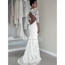 lace keyhole back wedding dress illusion neckline sheath long