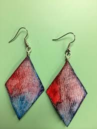 paper earrings watercolor paper earrings balljot s jewelry designs