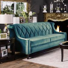 Fancy Living Room by Furniture Antioch Button Tufted Sofa In Blue For Fancy Living