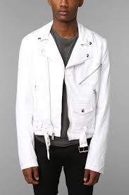 mens moto jacket tripp nyc moto jacket in white for men lyst