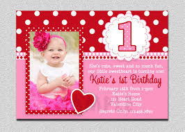 1st birthday invitations free template baby u0027s 1st
