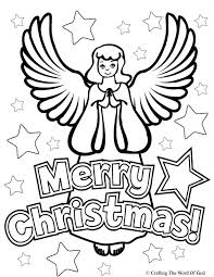 christmas angel coloring crafting word god