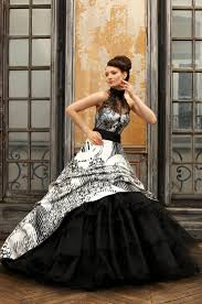 black and white wedding dress eli shay wedding dress collections 2012 dove white black dress