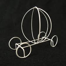carriage centerpiece ifavor123 4 inch wire pumpkin carriage centerpiece or