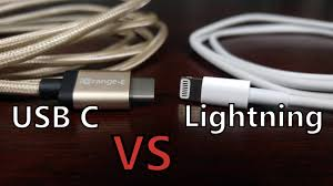 cable fight usb type c vs apple lightning connector youtube