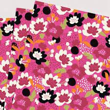 jumble pink floral wrapping paper 3 sheets caroline gardner