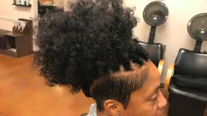 extension in shaved back and side hair shave side crochet braids after microlink extension removal and