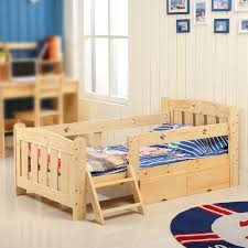 bed pine wood bed pine single bed boy child crib furniture