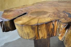 Wood Trunk Coffee Table with Large Tronco Tree Trunk Coffee Table Demejico