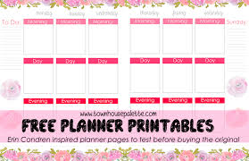 printable planner pages for 2015 free erin condren planner printables townhouse palette