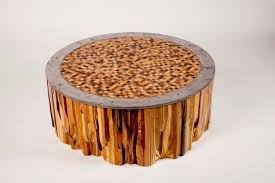 Diy End Grain End Table Made Mixed Wood Mosaic End Grain Top Coffee Table By Fast