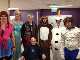 nhl halloween bruins dress up as cast from frozen
