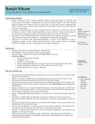 Business Analyst Objective In Resume Business Analyst Resume 28 Images H1b Sponsoring Consultancies